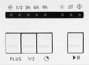 Индикаторы программ мойки ПММ Hansa ZWM 4677 WEH